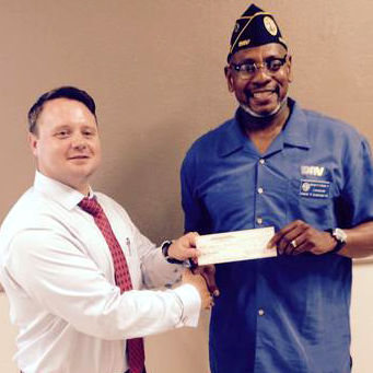 Cmdr. George H. Lindsey Of Disabled American Veterans Makes A Generous Donation