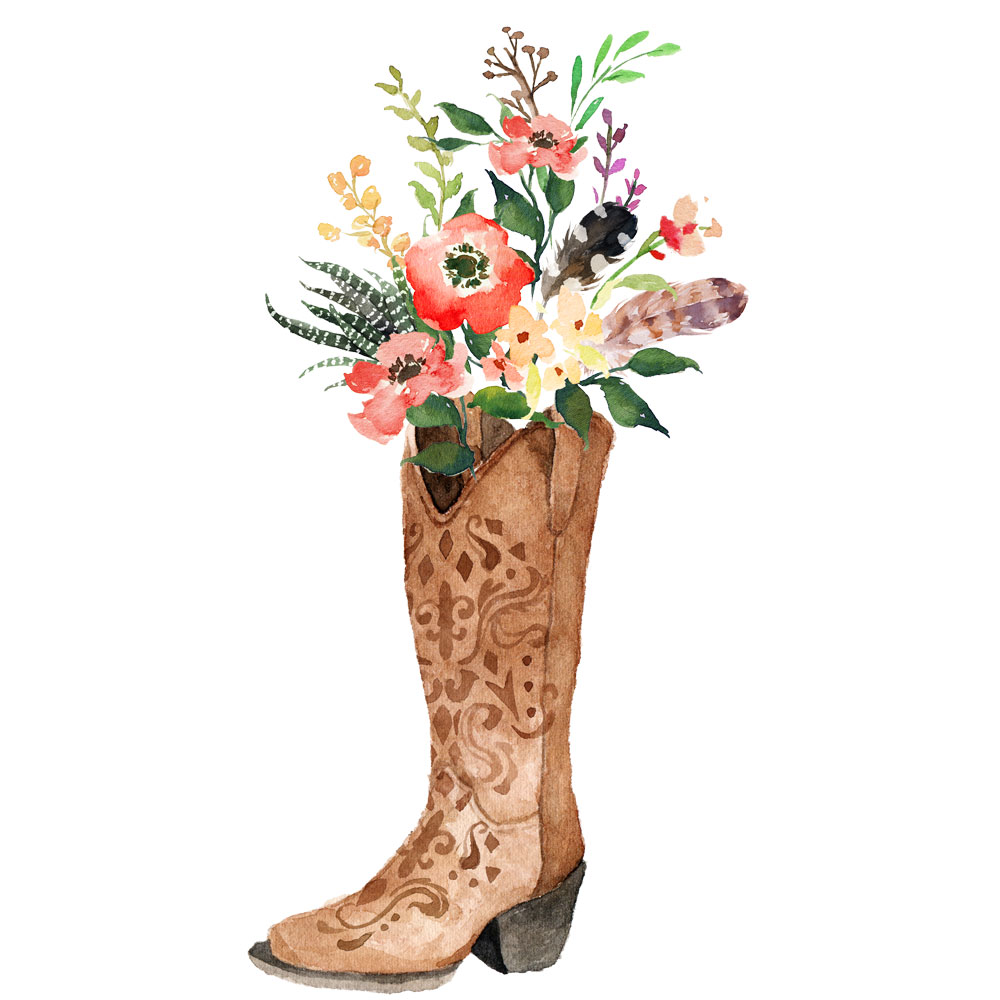 cowboy-flowers-boots